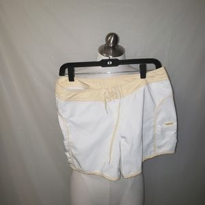Fox Beach Short Yellow and White Size J7
